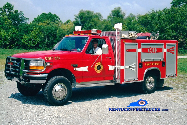 <center> Currently with Central Campbell Fire District 1 <br> Camp Springs  Brush 331  <br> 1997 Ford F-350 4x4/Mertz 250/250  <br> Greg Stapleton photo </center>