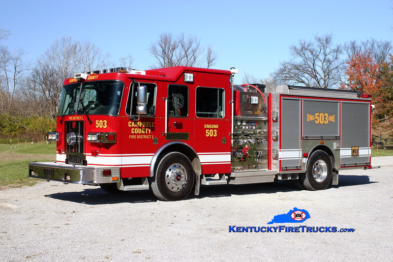 <center> Campbell County Fire District 1  Engine 503  <br> 2008 Sutphen Shield 1500/750/30  <br> Kent Parrish photo </center>