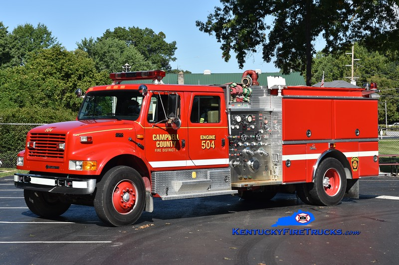 Campbell County Fire District 1 Engine 504<br /> x-Camp Springs, KY <br /> 1994 International 4900/Ferrara 1000/500/60<br /> Greg Stapleton photo
