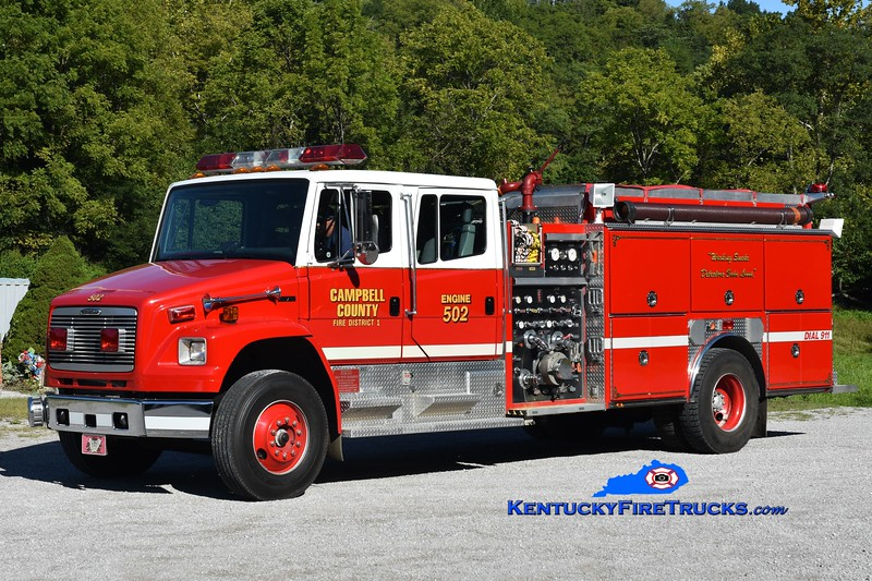 Campbell County Fire District 1 Engine 502<br /> x-Eastern Campbell, KY <br /> 1996 Freightliner FL80/Ferrara 1250/1000<br /> Greg Stapleton photo