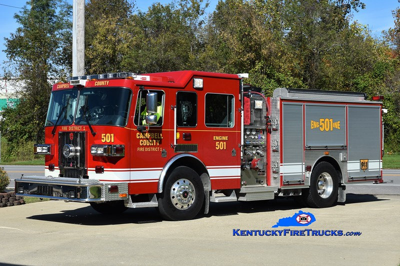 Campbell County Fire District 1 Engine 501<br /> 2007 Sutphen Shield 1500/750/30<br /> Greg Stapleton photo