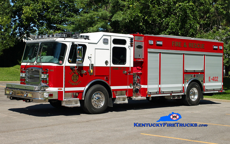 <center> Central Campbell  Engine 402  <br> 2015 E-One Typhoon eMAX 1500/750/30 <br> Kent Parrish photo </center>