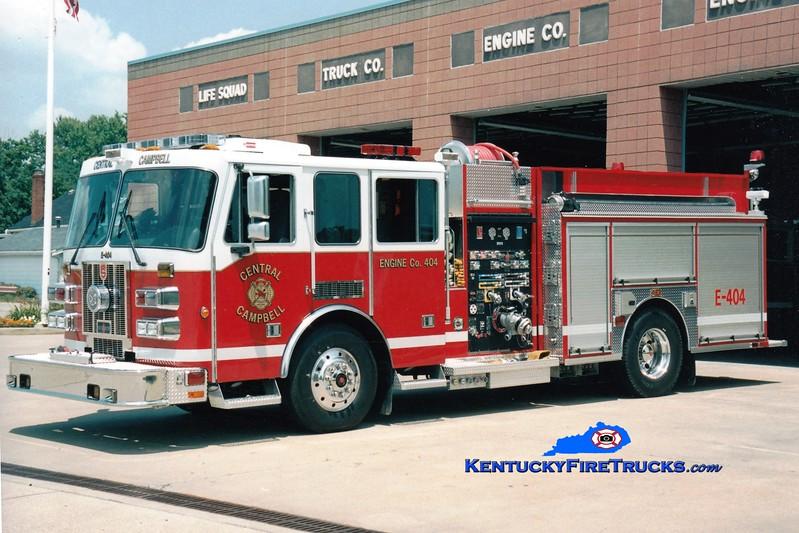 <center> Central Campbell  Engine 404  <br> 2005 Sutphen 1500/750 <br> Greg Stapleton photo </center>