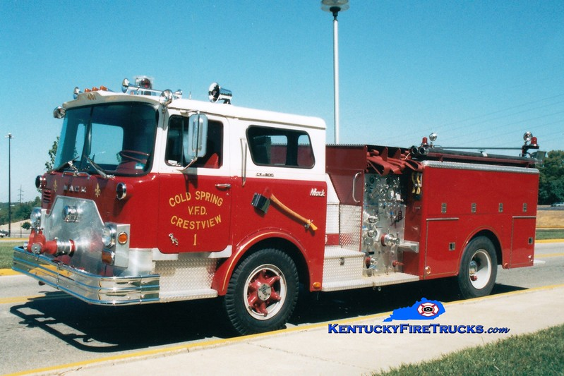 <center> NO LONGER IN SERVICE <br> Cold Spring-Crestview Engine 1 <br> x-FDNY <br> 1971 Mack CF/1982 Summit 1000/450  <br> Greg Stapleton photo </center>