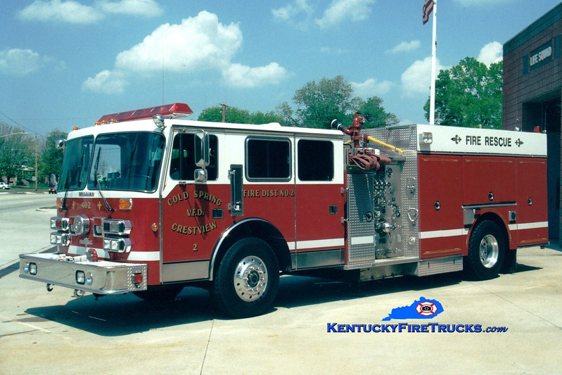 <center> Cold Spring-Crestview  Engine 402 <br> Presently with Central Campbell FD <br> 1992 Simon-Duplex/Grumman 1500/700/50 <br> Greg Stapleton photo </center>