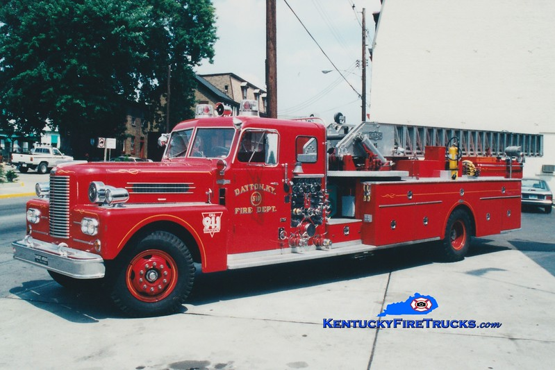 <center> NO LONGER IN SERVICE <br> Dayton Truck 510  <br> 1963 Pirsch 1000/300/85' <br> Greg Stapleton photo </center>