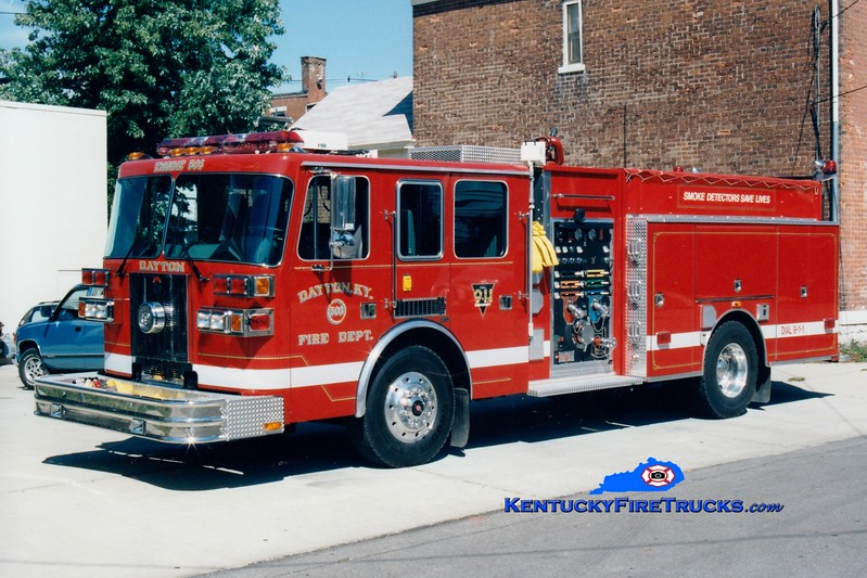 <center> Presently with the Bellevue-Dayton FD <br> Dayton Engine 503  <br> 1997 Sutphen 1500/750 <br> Greg Stapleton photo </center>