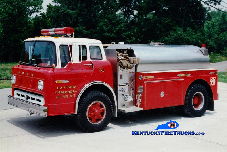 <center> Currently with Campbell County Fire District 1 <br> Eastern Campbell  Tanker 1  <br> 1980 Ford C/S&S 450/1500 <br> Greg Stapleton photo </center>