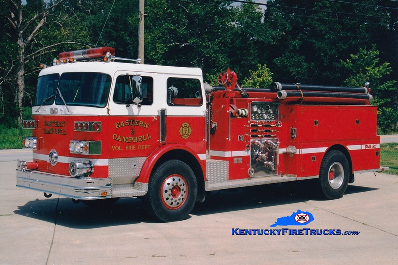 <center> RETIRED <br> Eastern Campbell  Engine 2  <br> x-Kent, OH <br> 1978 Sutphen 1500/500  <br> Greg Stapleton photo </center>