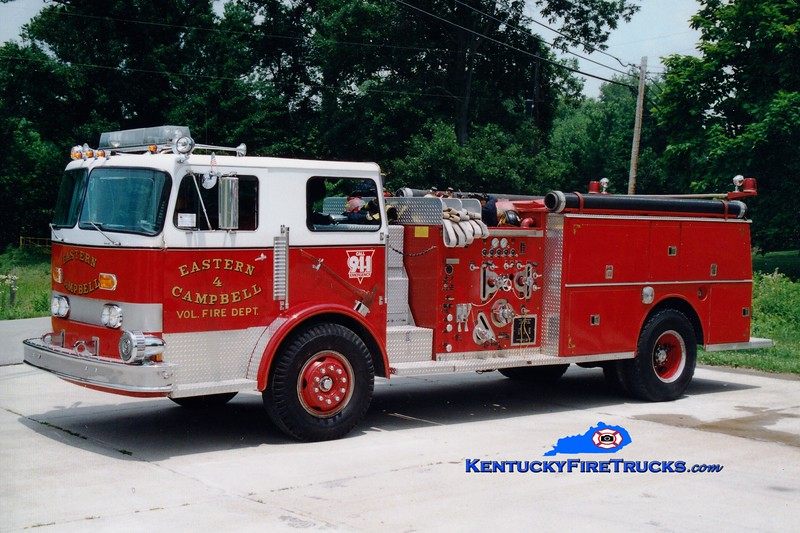 <center> RETIRED <br> Eastern Campbell  Engine 4  <br> x-Panama City, FL <br> 1974 American LaFrance Pacemaker 1250/750 <br> Greg Stapleton photo </center>
