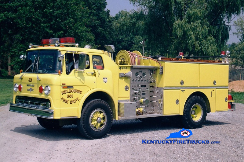 <center> RETIRED <br> Melbourne  Engine 801  <br> 1981 Ford/Grumman 1000/750 <br> Greg Stapleton photo </center>