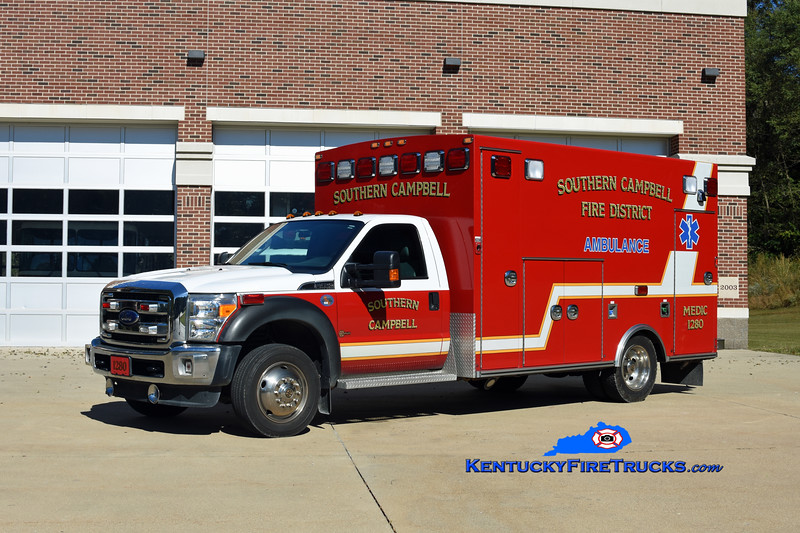 Southern Campbell  Medic 1280<br /> 2012 Ford F-450 4x4/Braun<br /> Kent Parrish photo