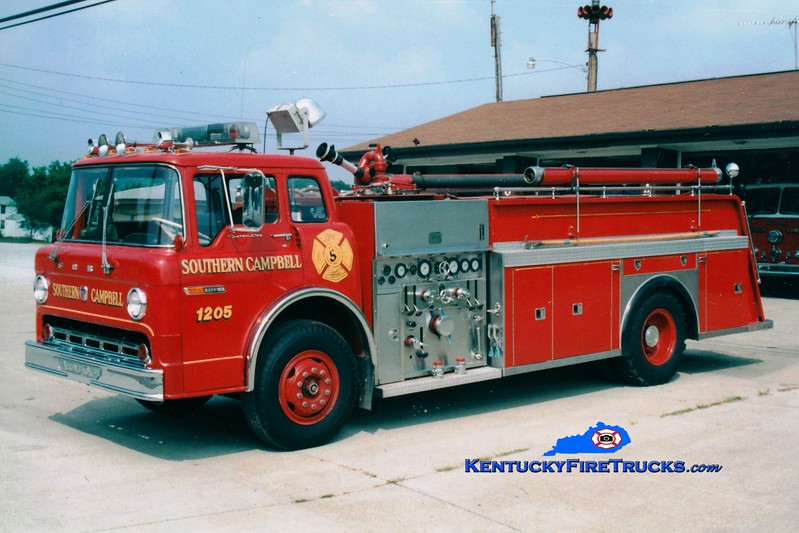 <center> RETIRED <br> Southern Campbell  Engine 1205  <br> 1977 Ford/Ahrens-Fox 1000/500  <br> Greg Stapleton photo </center>