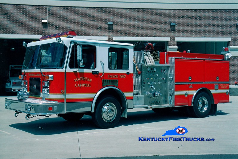 <center> RETIRED <br> Southern Campbell  Tanker 1236  <br> x-Cold Spring-Crestview <br> 1992 Spartan/Ferrara Invader 1250/750 <br> Greg Stapleton photo </center>