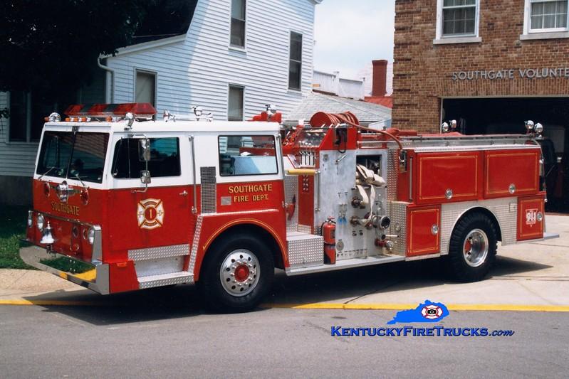 <center> RETIRED <br> Southgate  Engine 1301 <br> 1973 Hendrickson/Howe/Sutphen 1000/400 <br> Greg Stapleton photo </center>