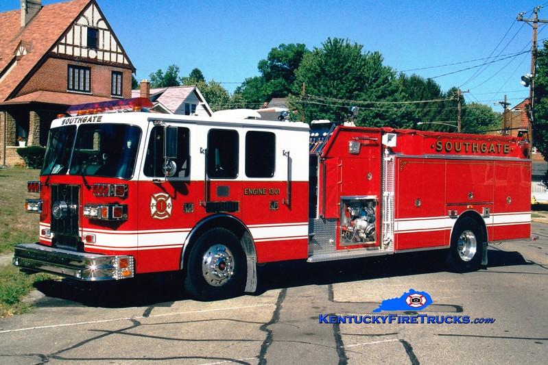 <center> Southgate  Engine 1301 <br> 1997 Sutphen 1500/500 <br> Greg Stapleton photo </center>