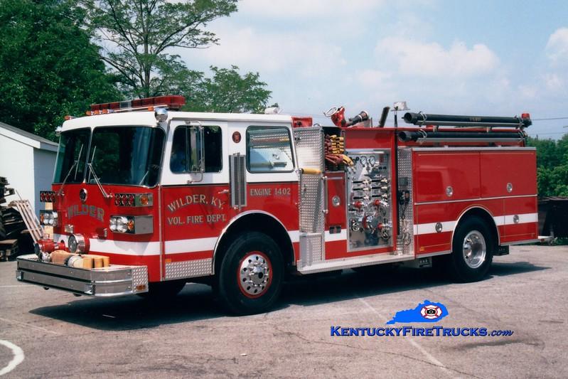<center> RETIRED <br> Wilder  Engine 1402 <br> 1986 Sutphen Deluge 1500/750 <br> Greg Stapleton photo </center>
