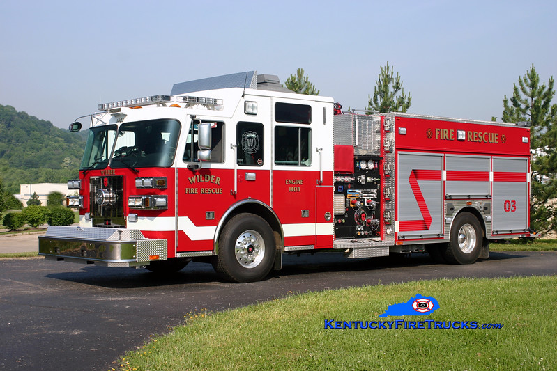 <center> Wilder  Engine 1403 <br> 2009 Sutphen Monarch 2000/750/30 <br> Kent Parrish photo </center>
