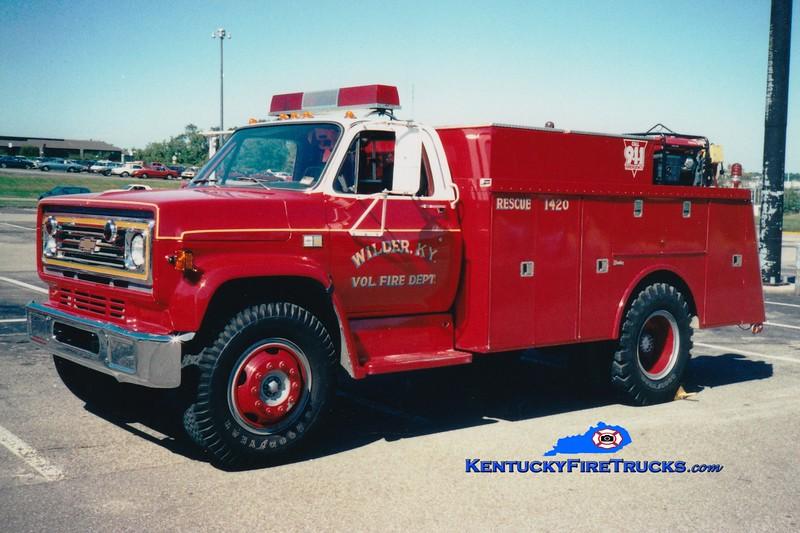 <center> RETIRED <br> Wilder  Rescue 1420 <br> 1983 Chevy/Reading  <br> Greg Stapleton photo </center>