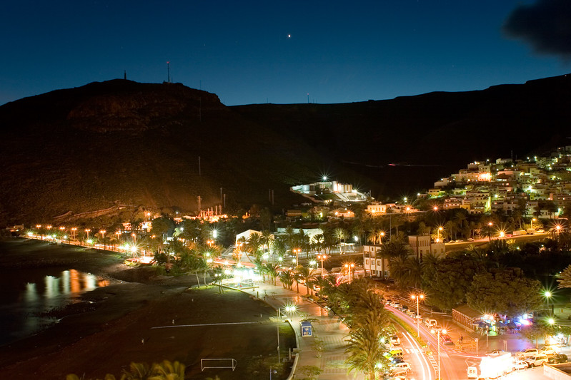 San Sebastian by night, La Gomera, Canary Islands