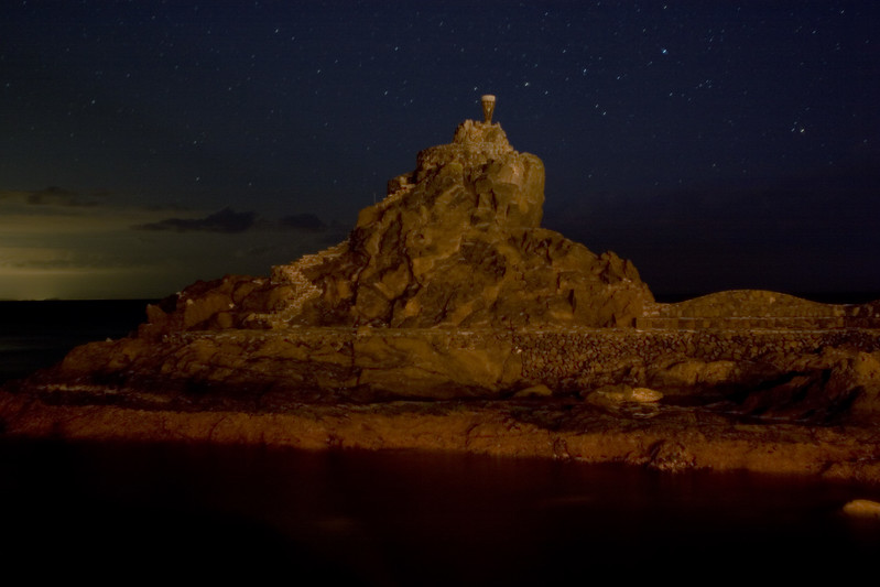 Playa de la Cueva by night, San Sebastian, La Gomera, Canary Islands