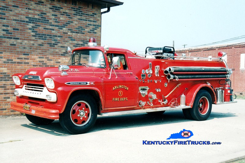 <center> RETIRED <br> Arlington Engine 501 <br> 1959 Chevy C60/Howe 500/500 <br> Greg Stapleton photo </center>
