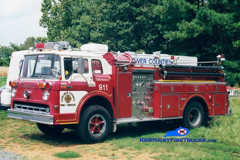 <center> RETIRED <br> Carlisle County  Engine 101 <br> x-Masonville, NJ <br> 1969 Ford C/Thibault 750/750 <br> Greg Stapleton photo </center>