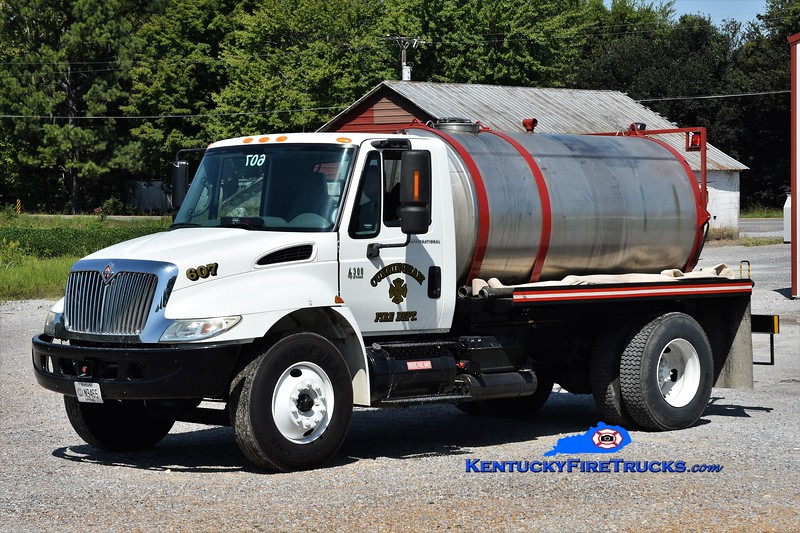 Cunningham  Tanker 607<br /> 2004 International 4300/Local 0/1500<br /> Greg Stapleton photo