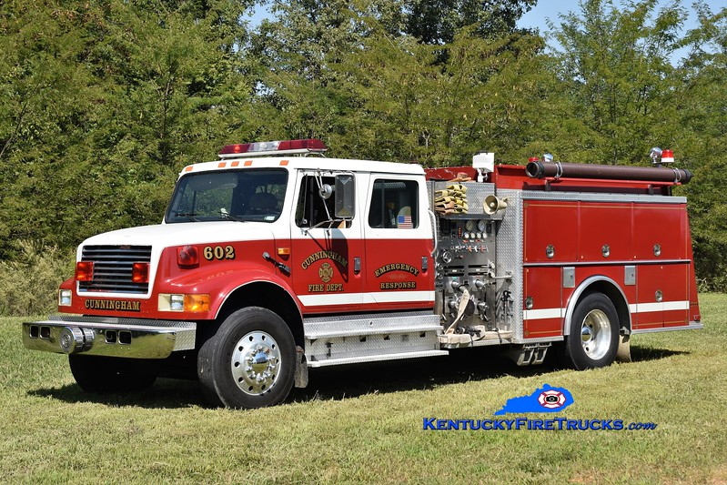Cunningham  Engine 602<br /> x-Mt. Pleasant, SC<br /> 1991 International 4900/KME 1250/1000<br /> Greg Stapleton photo
