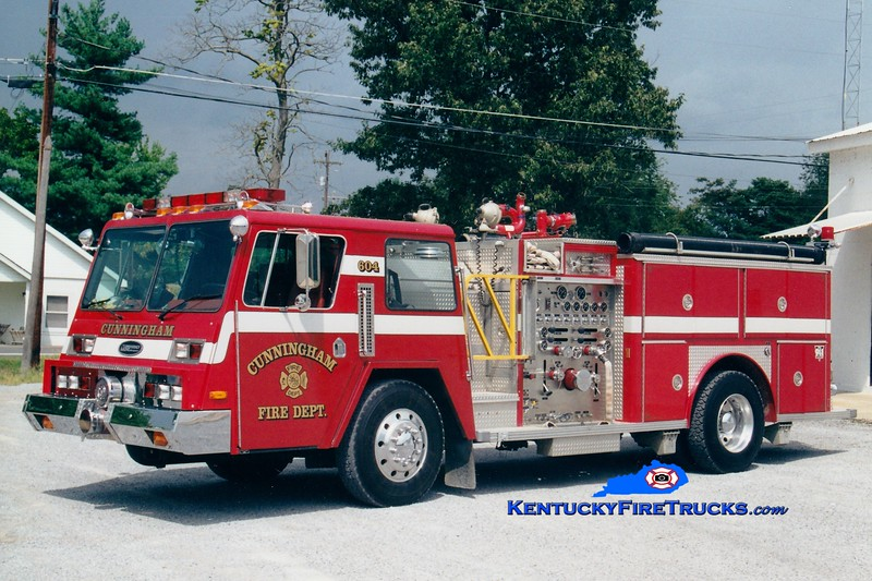 <center> RETIRED <br> Cunningham  Engine 604  <br> x-Monroe Twp, NJ <br> 1983 Pemfab/E-One 1500/500 <br> Greg Stapleton photo </center>