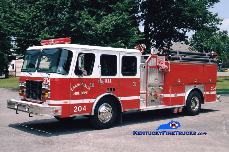 <center> Carrollton  Engine 204  <br> 1995 E-One Sentry 1250/1000 <br> Greg Stapleton photo </center>