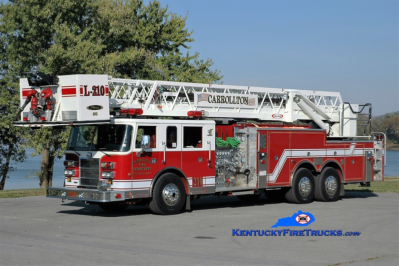 Carrollton  Ladder 210<br /> x-Denver, NC <br /> 1999 Pierce Dash 2000/200/85'<br /> Greg Stapleton photo