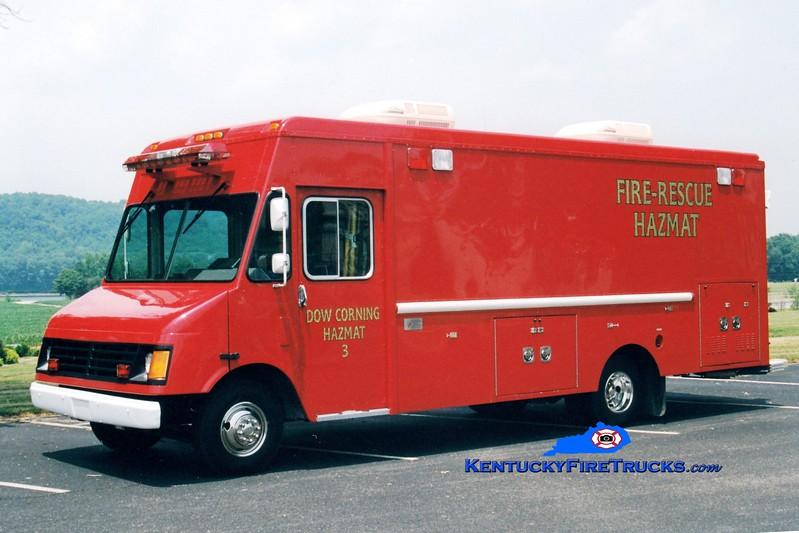 <center> Dow Corning  Hazmat 3 <br> 1996 Chevy/American Fire & Rescue <br> Greg Stapleton photo </center>