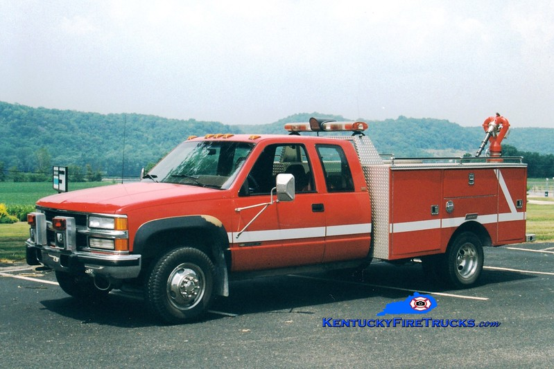 <center> RETIRED <br> Dow Corning  Unit 5  <br> 1995 Chevy 3500/Summit Hose Wagon <br> Greg Stapleton photo </center>