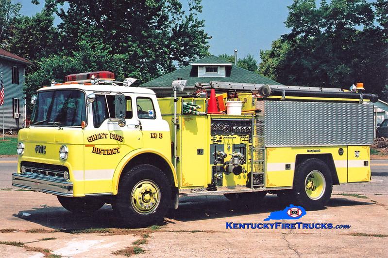<center> RETIRED <BR> Ghent  Engine 308  <br> 1985 Ford C-8000/FMC 1000/1000 <br> Greg Stapleton photo </center>