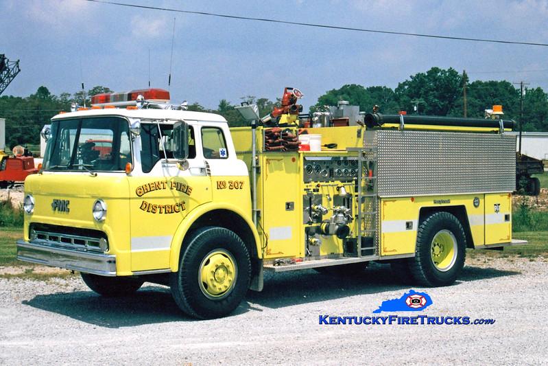 <center> RETIRED <br> Ghent  Engine 307  <br> 1985 Ford C-8000/FMC 1000/1000 <br> Greg Stapleton photo </center>