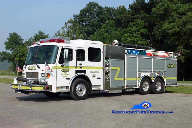 <center> Ghent  Engine 306  <br> 2004 American LaFrance Metropolitan 1500/2000/50/CAFS <br> Kent Parrish photo </center>
