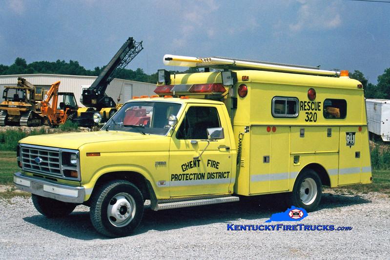 <center> RETIRED <br> Ghent  Rescue 320  <br> 1982 Ford F-350/Reading  <br> Greg Stapleton photo </center>