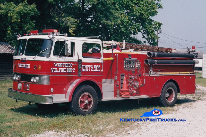 <center> RETIRED <br> Westside  Engine 505  <br> 1967 Duplex/Howe 1000/1100 <br> Greg Stapleton photo </center>