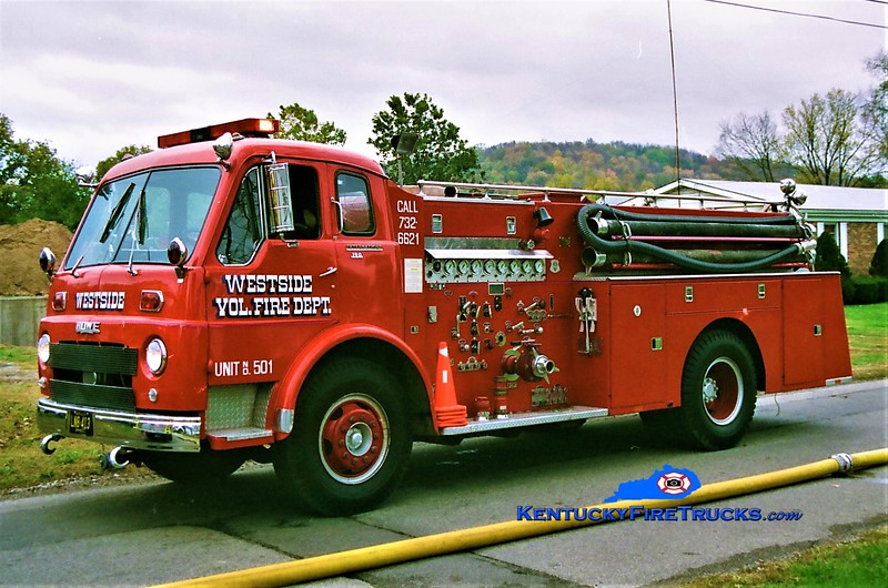 RETIRED<br /> Westside Engine 501<br /> x-Warsaw, IN <br /> 1959 International VCO/Howe 1000/1000<br /> Greg Stapleton photo