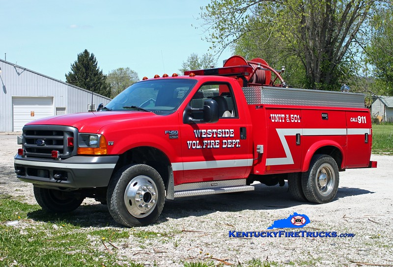 <center> Westside  Brush 501  <br> 1999 Ford F-450 4x4/Monroe 250/250 <br> Kent Parrish photo </center>