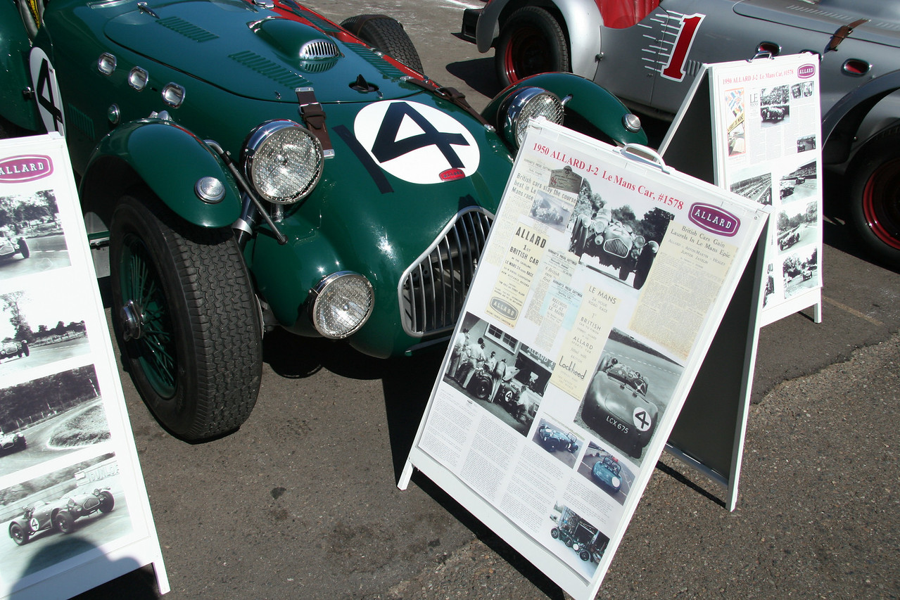 The Allard was the featured car in 2006. There were a lot of Allards on display and on the track.