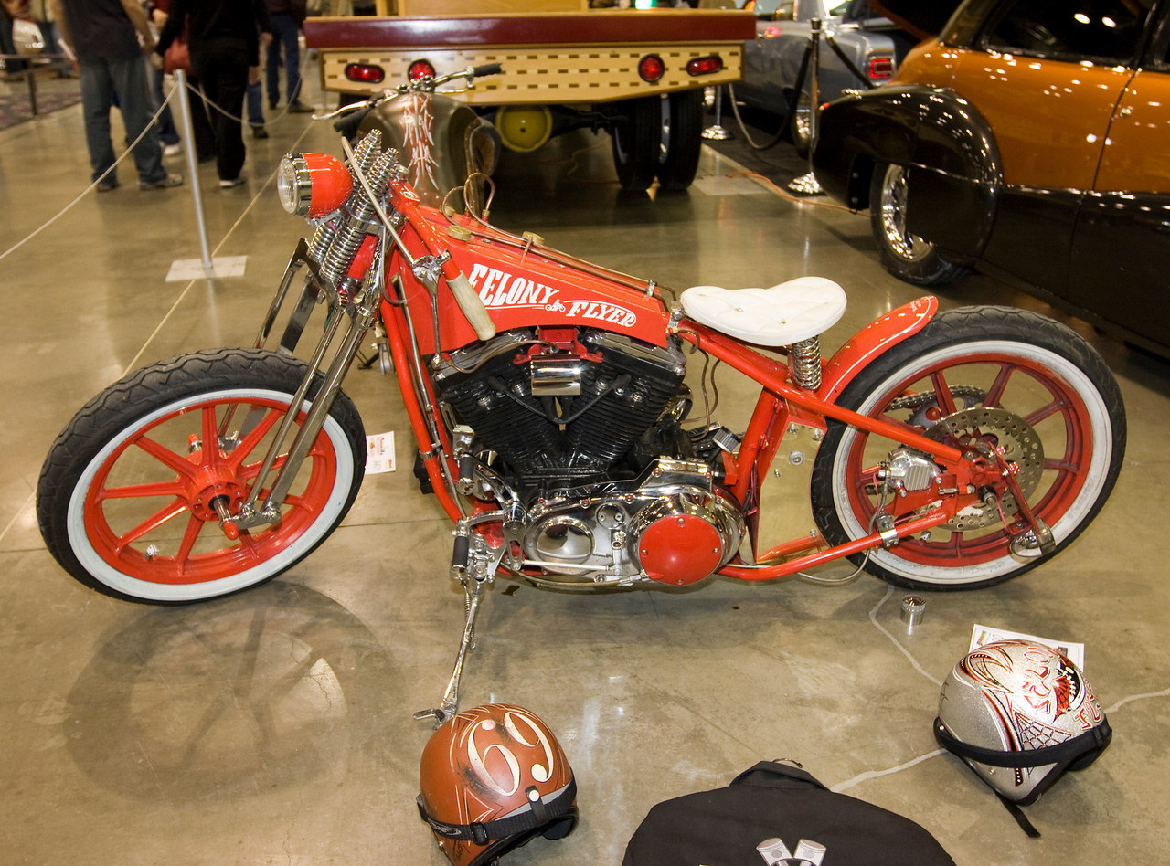 There were several retro-themed choppers at the show.