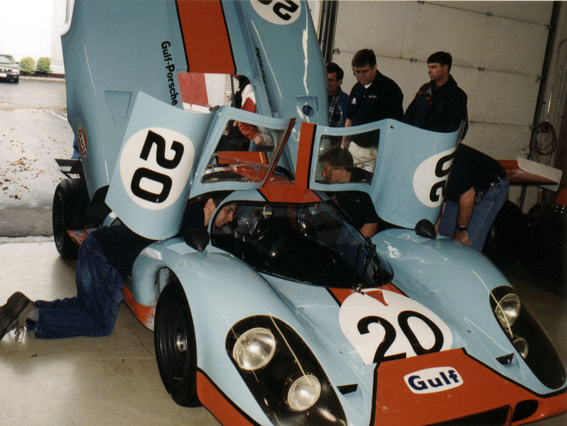 Porsche 917! They fired it up for us. Incredible and loud!