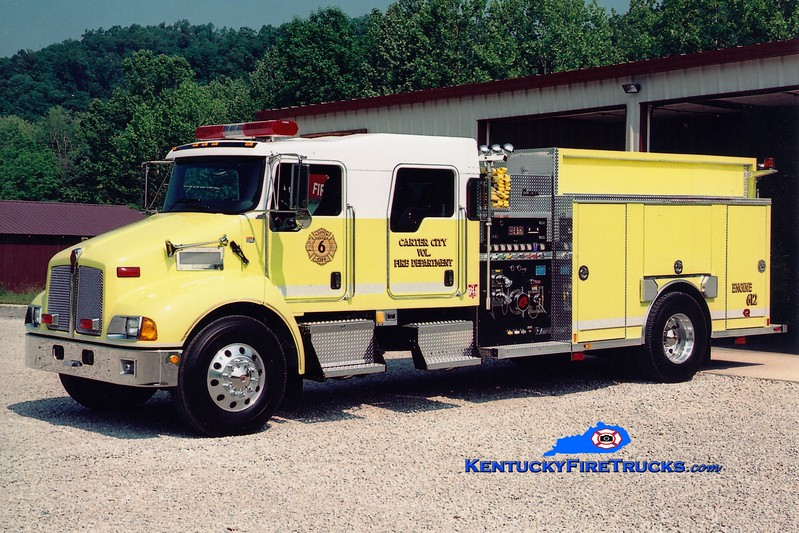 <center> Carter City  Engine 612 <br> 2005 Kenworth T300/Rosenbauer-Central  1250/1000 <br> Greg Stapleton photo </center>