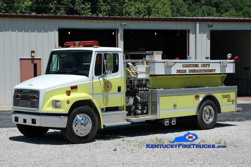 Carter City  Tanker 621<br /> x-Round Hill, VA<br /> 1995 Freightliner/Super 1000/1800<br /> Greg Stapleton photo
