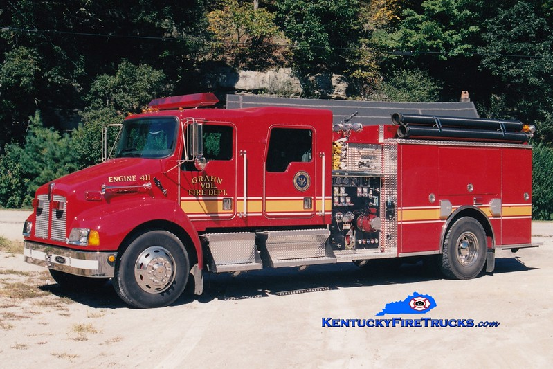 <center> Grahn  Engine 411  <br> 2001 Kenworth T-300/Pierce 1250/1000 <br> Greg Stapleton photo </center>