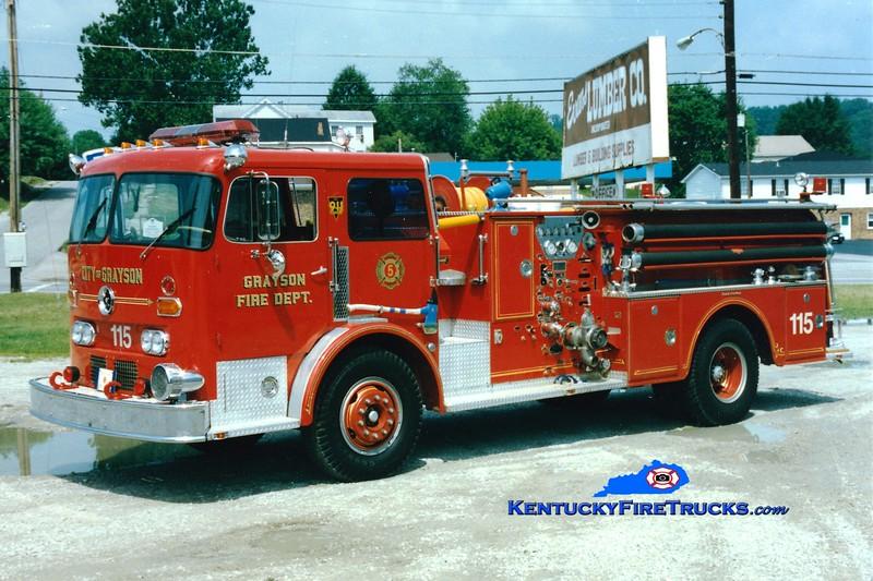 <center> RETIRED <br> Grayson  Engine 115 <br> 1968 Duplex/Oren 1000/500<br> Greg Stapleton photo </center>