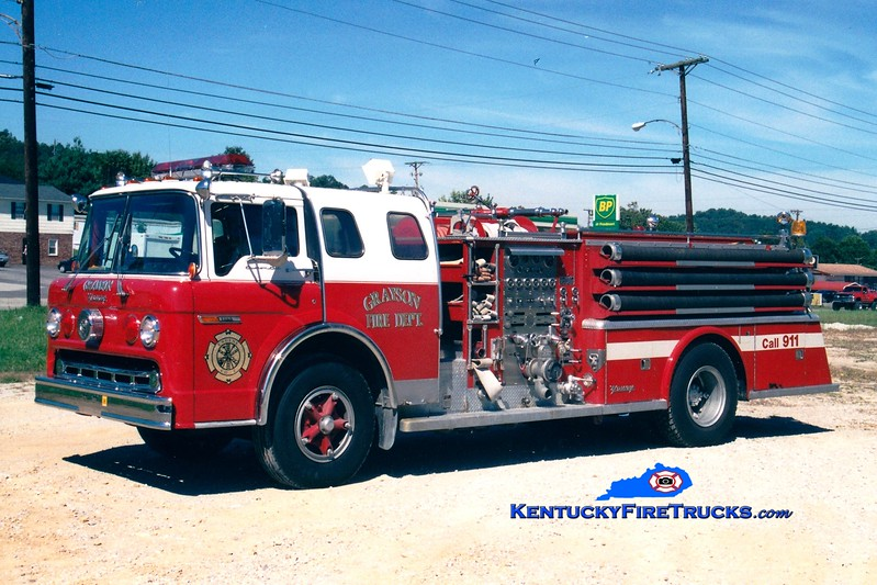 <center> RETIRED <br> Grayson  Engine 2 <br> x-Lake Shore, NY <br> 1975 Ford C-900/Young 1000/500 <br> Greg Stapleton photo </center>