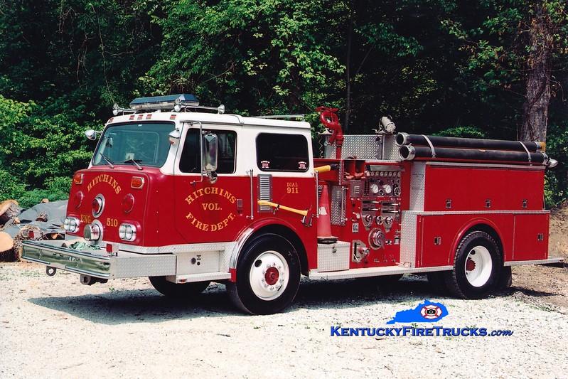 <center> RETIRED <br> Hitchins  Engine 510 <br> x-Saddlebrook, NJ <br> 1982 Continental Compac 1250/800 <br> Greg Stapleton photo </center>
